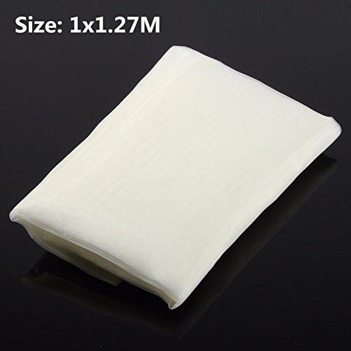 MYAMIA 100x127Cm White Silk Sérigraphie Tissu 110 Mesh 43T