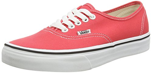 Vans U Authentic, Sneakers basses mixte adulte Rouge (cayenne/true White)