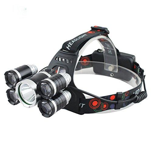JIALUN- LED Wasserdichte Taschenlampe Scheinwerfer mit Ladegerät Super Bright LED Scheinwerfer 5 Schalter Modi für Camping Reiten Lesen regnerischen Wetter -