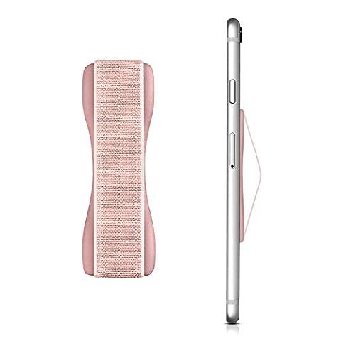 kwmobile Finger-Halterung Smartphone Halter für die Hand, für verbesserte Einhandbedienung - Für iPhone 6 Plus, Samsung Galaxy S6, Sony Xperia und mehr in Rosegold