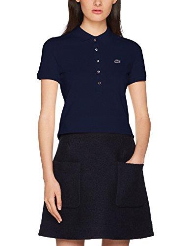 Lacoste Damen Poloshirt Pf7845, Blau (Marine), 40 (Herstellergröße: 40)