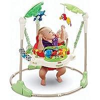مقعد هزاز بدعامات لمشي ووثب طفلك، مناسب للصغار وحديثي المشي من بيبي باونسر