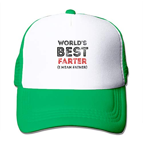 Unisex Baseball Cap, World's Best Farter (I Mean Father) Custom Hat,Fashion Hat,Soft Hat Snapbacks for Outdoor Indoor Sporting Green Custom Fit, Vintage-hut