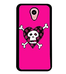Printvisa Animated Pink Danger Sign Back Case Cover for Meizu m2 note::Meizu Blue Charm Note2