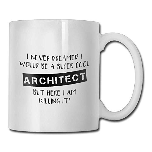 Inspirational Funny Quotes Mug with Sayings for Men Women - Architect Gifts Architecture Gifts Architectural Student - Gift Idea Coffee Mug Tea Cup Ceramic White 11 OZ