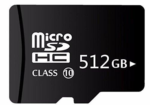 512Go MicroSD carte mémoire SD–avec un adaptateur USB Camera &