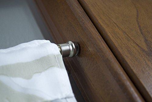 Bastoni Per Tende Con Ventose.Bastone Per Tenda In Ottone Con Molla E Ventosa Nichel Satinato