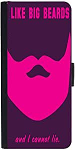 Snoogg Big Beards Cannot Lie 2919 Designer Protective Phone Flip Case Cover For Apple Iphone 5 / 5S