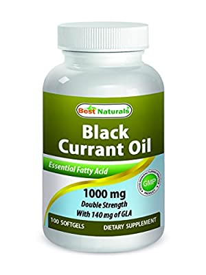 Best Naturals Black Currant Oil 1000 mg Double Strength 100 Softgels by Best Naturals