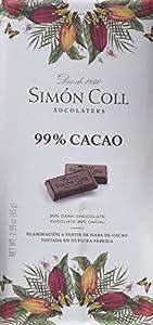 99: Simón Coll - Tableta de chocolate, 99% cacao), 85 gr, 1 Unidad