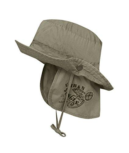 Döll Jungen Mütze Hut mit Nackenschutz 1819456684, Grün (Four Leaf Clover 5320), 51