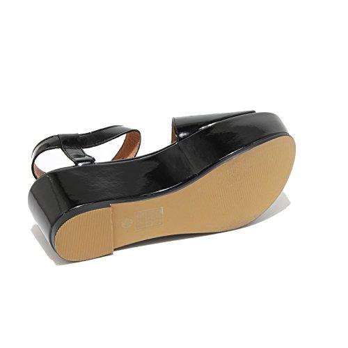 3285I sandali zeppe neri donna JEFFREY CAMPBELL lovell 2 scarpe shoes women Nero