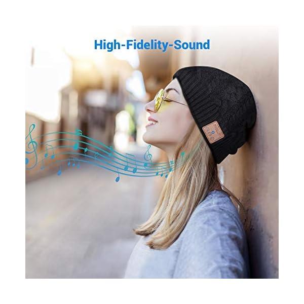 Cappello Bluetooth Bluetooth Beanie 5.0 , Cuffie a Cuffia wireless con Altoparlanti Stereo HD e MIC Incorporato… 5 spesavip