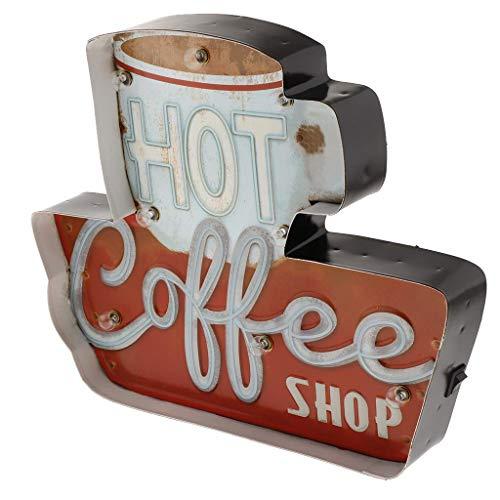 Tubayia Vintage Kaffee LED Lichtbox Leuchtschild Lichtkasten für Bar, Café, Restaurant, Club Dekoration