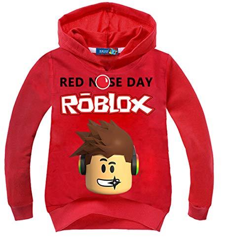 Vannie Kinder Roblox Pullover red Nose Day Oberteile süß Pullover Cartoon Tops für Mädchen Jungen von 3 bis 8 Jahren 140