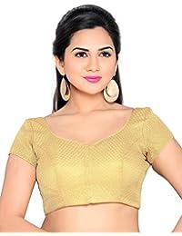 Studio Shringaar Festive Gold Short Non-Padded Blouse