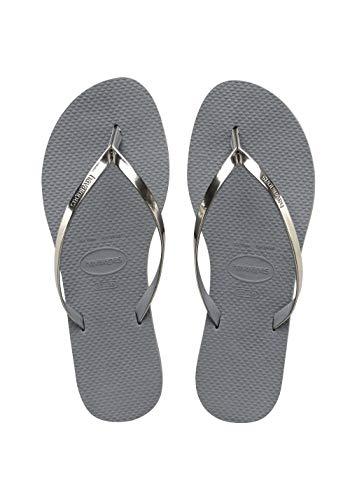 Havaianas Damen You Metallic Zehentrenner, Grey (Steel Grey), 37/38 EU