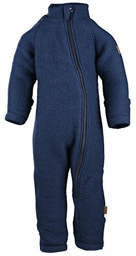 mikk-line Unisex Baby Spieler Wollanzug Blau (Blue Nights 287), 68