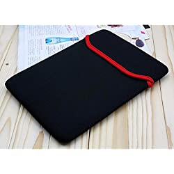 Neon Reversible 14-inch Laptop Sleeve/Slip Case Bag (Black-Red)