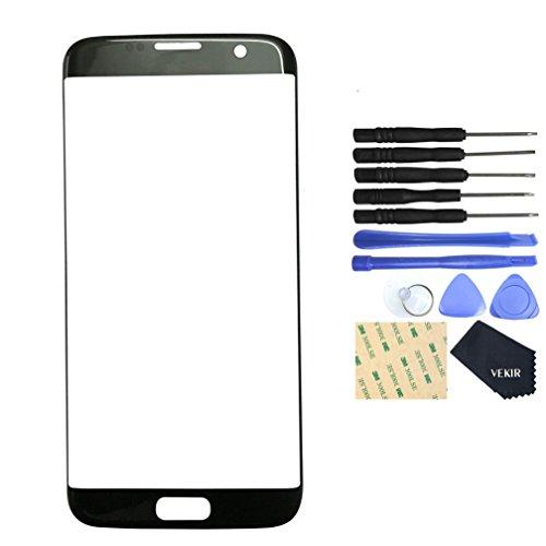 Galleria fotografica VEKIR vetro di riparazione dello schermo per Samsung Galaxy S7 Edge (Blck)