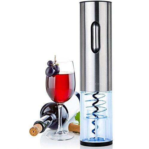Sacacorchos Eléctrico - LOUISWARE Recargable Automático Abridor de Botellas de Vino, Acero...