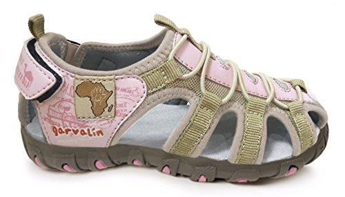 Garvalin162810D - Sandali  Unisex per bambini , Rosa (Pink (Rosa (Tejido))), 35.5