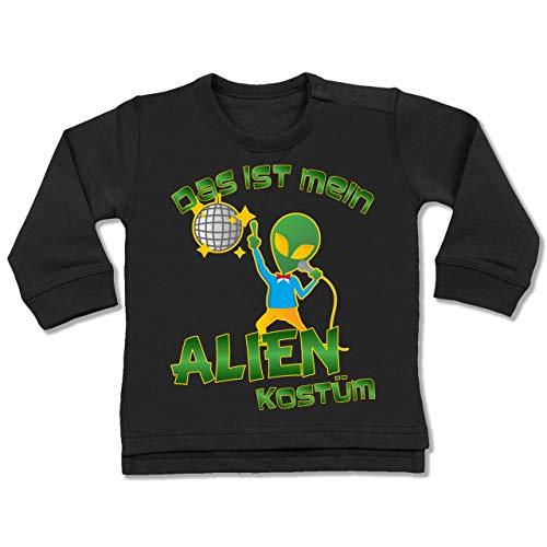 g Baby - Das ist Mein Alien Kostüm Disco - 6-12 Monate - Schwarz - BZ31 - Baby Pullover ()