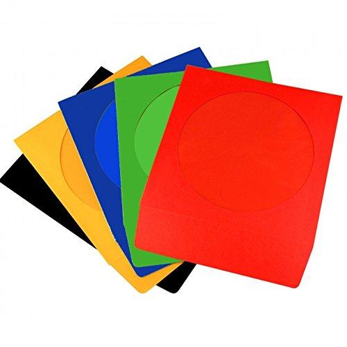 DragonTrading® CD- / DVD-Hüllen, bunt, mit Fenster und Lasche, 100 Stück