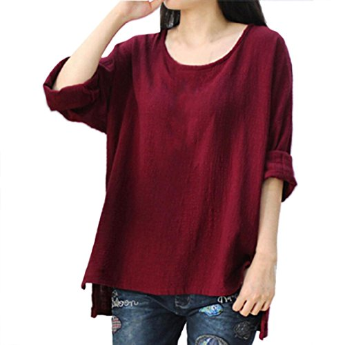 MERICAL Women Crewneck Long Sleeve Casual Loose Tops T Shirt Blouse Plus Size