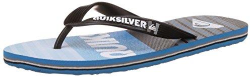 Quiksilver Molokai Incline M Herren Zehentrenner Schwarz (Black/Blue/Blue XKBB)