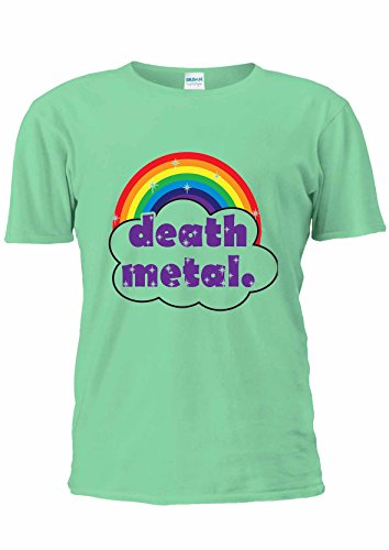 Cute Death Metal arcobaleno Funny Colorful Unisex T Shirt Top-Donna Heather Green XXL