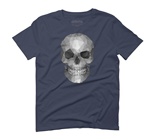 Skull polygons Men's Graphic T-Shirt - Design By Humans Navy
