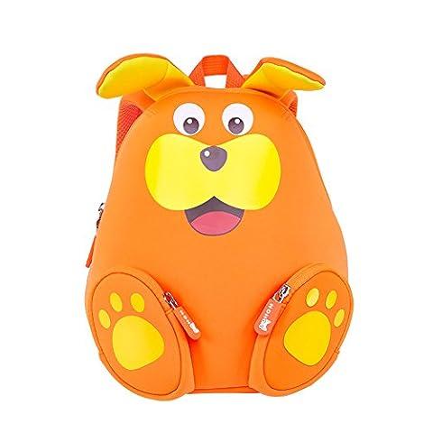 NohooHaha 3D Kragenbär Kinderrucksäcke für Kindergarten,Schule und Wandern,für 2-5 Jahre Mädchen und Jungen