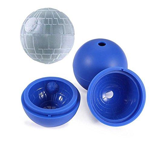 prochive Ice Ball Mold Sphere Silikon Ice runden Maker Silikon Form Eiswürfelform für Whiskey, Cocktail und jedes Getränk, Ball für Star Wars oder Party Thema Tief Blau, 2Stück