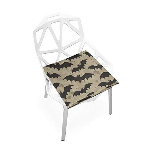 Enhusk Black Night Bat Benutzerdefinierte weiche Rutschfeste quadratische Memory Foam Chair Pads Kissen Sitz für Home Kitchen Esszimmer Büro Schreibtisch Möbel Indoor 16 x 16 Zoll -