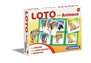 Clementoni-62481-Juego Educativo y científico-Loto-Los Animales