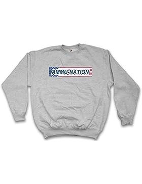 AMMU Nation Logo Sweatshirt – Armería Traficante de Armas PC Game Zeichen Gun Shop Insignia Symbol Tamaños S –...