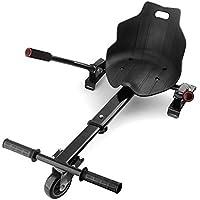 """Hovercart Scooter Seat Accédez à l'accessoire de Support réglable Kart pour 6,5"""" 8"""" 10"""" Deux Roues Auto-équilibrage Scooter (Noir 2)"""