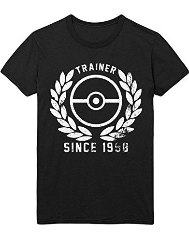 T-Shirt Poke Go Trainer Since 1998 Kanto Official Gym Leader X Y Blue Red Yellow Plus Hype Nerd Game C123132 Schwarz L
