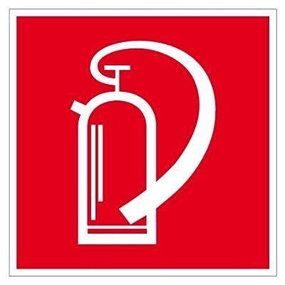 Brandschutzschild aus Kunststoff - Feuerlöscher - Seitenlänge 10 bis 40 cm
