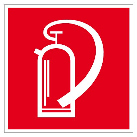 Brandschutzschild aus Kunststoff - Feuerlöscher - 20 x 20 cm