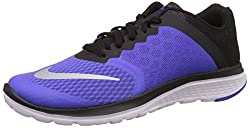 Nike Womens Nike Fs Lite Run 3 Violet and Black Running Shoes - 7 UK/India (41 EU)(8 US)
