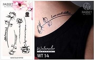 Passet Water Tattoo - Temporary Tattoo Sticker for Body (WT14)