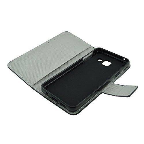ANNNWZZD Hülle Case [Flip Cover] Premium PU Schutzhülle Case Hülle mit Kartenfächer dezentes Design für Samsung Galaxy J5 (2015),A07 A09