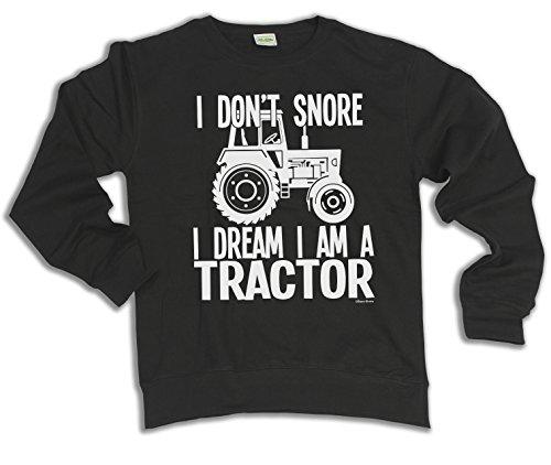 I Don`t Snore I Dream I`m A TRACTOR Scelta di con cappuccio o un maglione Uomo Donna Unisex (Sweater) Black