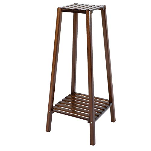 Caredy Blumentopf Ständer, mehrschichtige Blumen Rack Ecke Pflanze Regal Ständer wasserdicht Holz Pflanze Ständer solide Regale Bonsai Display Regal(2 Ebenen) -