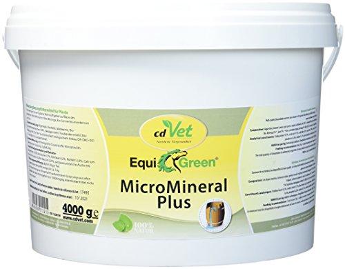 cdVet Naturprodukte EquiGreen MicroMineral plus 4kg - Pferd - Vitamin, Mineralstoff- und Spurenelementgeber - Magnesiummangel -   Zink- + Selenquelle - Magensäurebinder - Schadstoffebinder - Darm - -