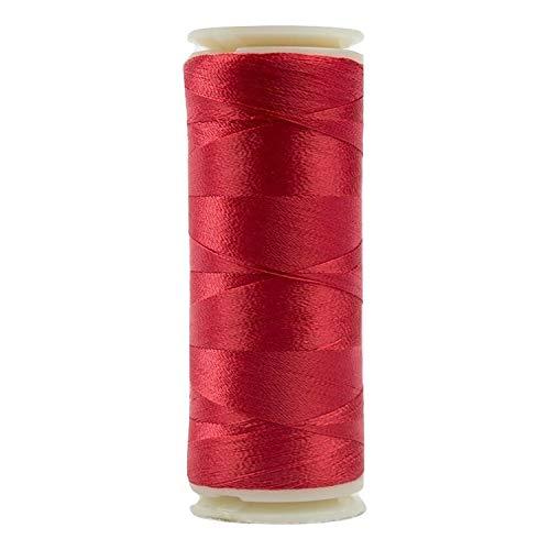 WonderFil InvisaFil Spezialgarn, 2-lagig, Baumwolle, weiches Polyester, 100 W, Rot 400m Christmas Red