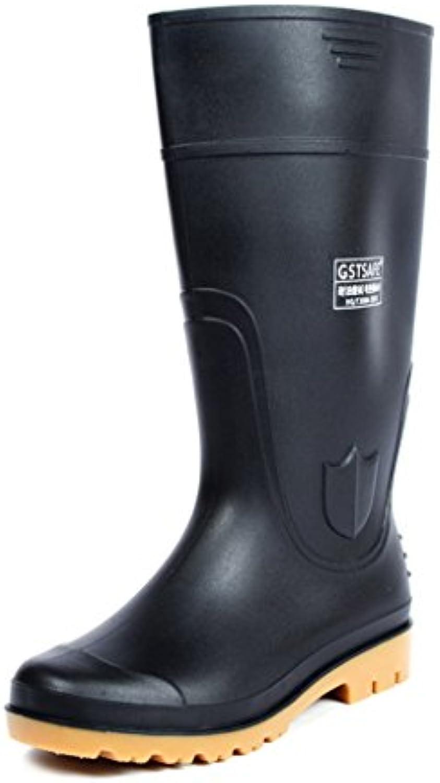 Mingteng Bota de Lluvia de Alto Aislamiento, Goma, Zapatos Antideslizante, Gruesa, Resistente al Desgaste, Suave  -