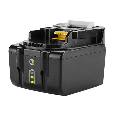 URUN 14,4 V 5,0 Ah Lithium-Ionen-Akku mit LED-Batterieanzeige Ersatz für makita BML146 DML805 ML140 ML143 DML802 Batterielampe DCL142Z Staubsauger DDF343 Bohrschrauber DDF446Z DDF448Z Akkuschrauber